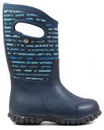 Bogs York Spot Stripe Blue Boots