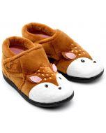 Chipmunks Doey Brown Slippers