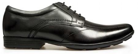 POD Angus Black Leather School Shoes