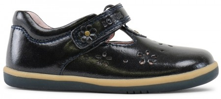 Bobux I-walk Rhyme Midnight Gloss T-bar shoes
