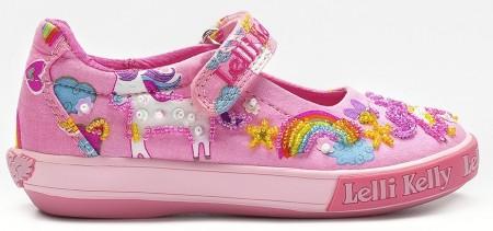 Lelli Kelly Unicorn Pink Canvas Shoes