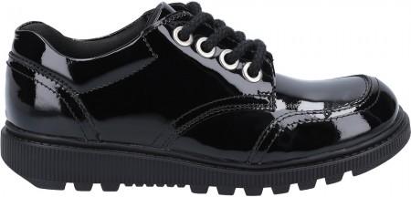 Hush Puppies Kiera Black Patent Leather School Shoes