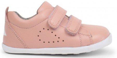 Bobux Step Up Grass Court Blush Pink Shoes