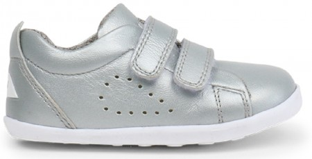 Bobux Step Up Grass Court Silver Shoes