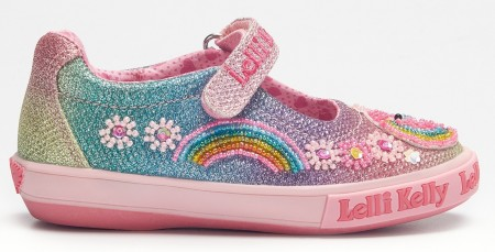 Lelli Kelly Unicorn Rainbow Canvas Shoes