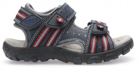 Geox Strada Navy Red Sandals Geox Kids Shoes Little