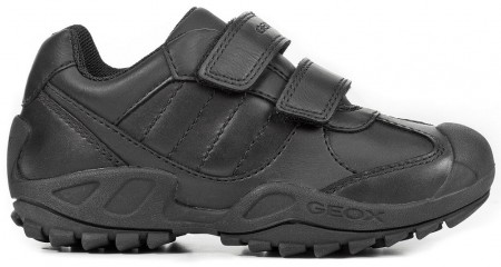 Geox Savage J841VB Black School Shoes