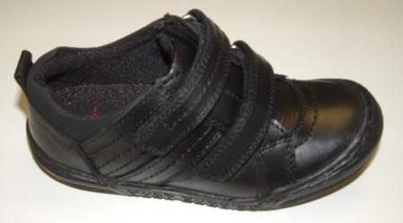 Hush Puppies Wano Black School Shoes