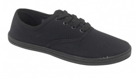 Plimsoll Lace Black EU Sizes