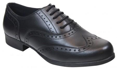 Term Bella Black School Shoes