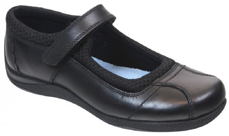 Term Victoria Black Leather School Shoes