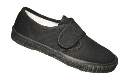 Plimsoll Black Velcro