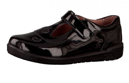 Ricosta Liza Black Patent T-bar School Shoes