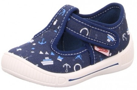 Superfit Bully 265-80 Navy Print Canvas Shoes