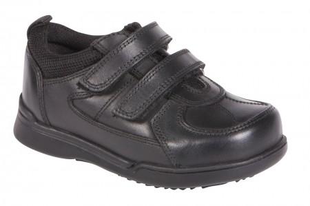 Hush Puppies Liam Black School Shoes