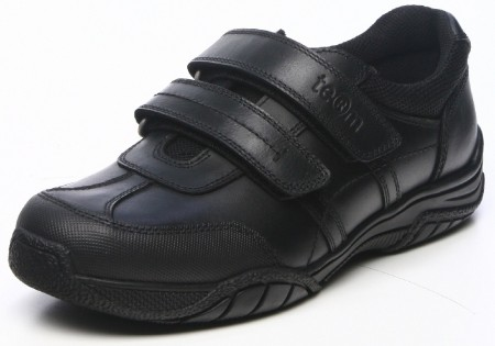 Term Chivers Scuff Guard Black Leather School Shoes