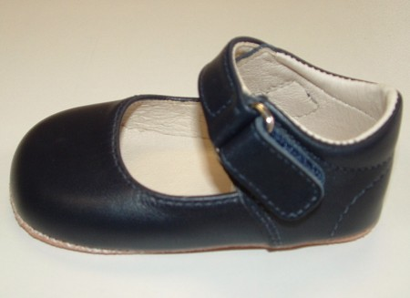 Ickle Shooz Classic Navy Mary Jane Pram Shoes
