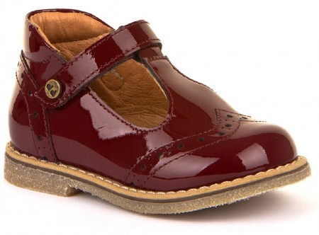 Froddo G2140049-2 Bordeaux Patent T-bar Shoes