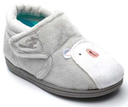 Chipmunks Arctic Light Grey Slippers