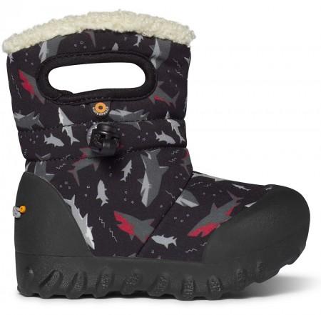 Bogs B-Moc Sharks Black Boots