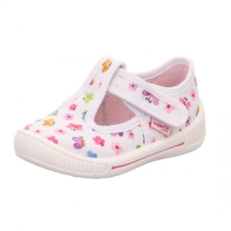 Superfit Bully 265-10 White Print Canvas Shoes