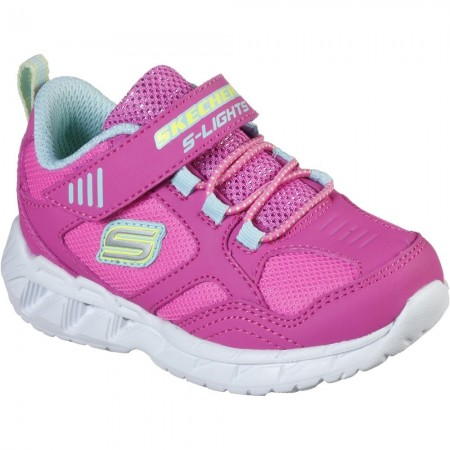 Skechers Magna Lights Pink Trainers