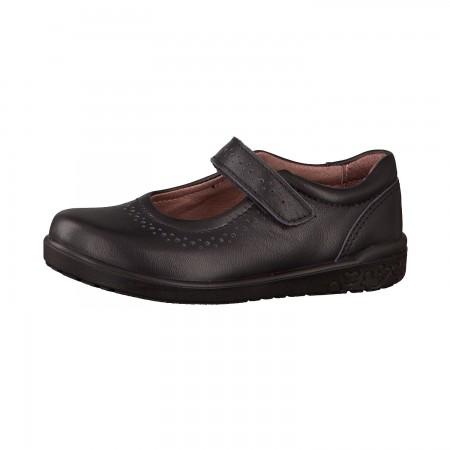 Ricosta Lillia Black Leather School Shoes