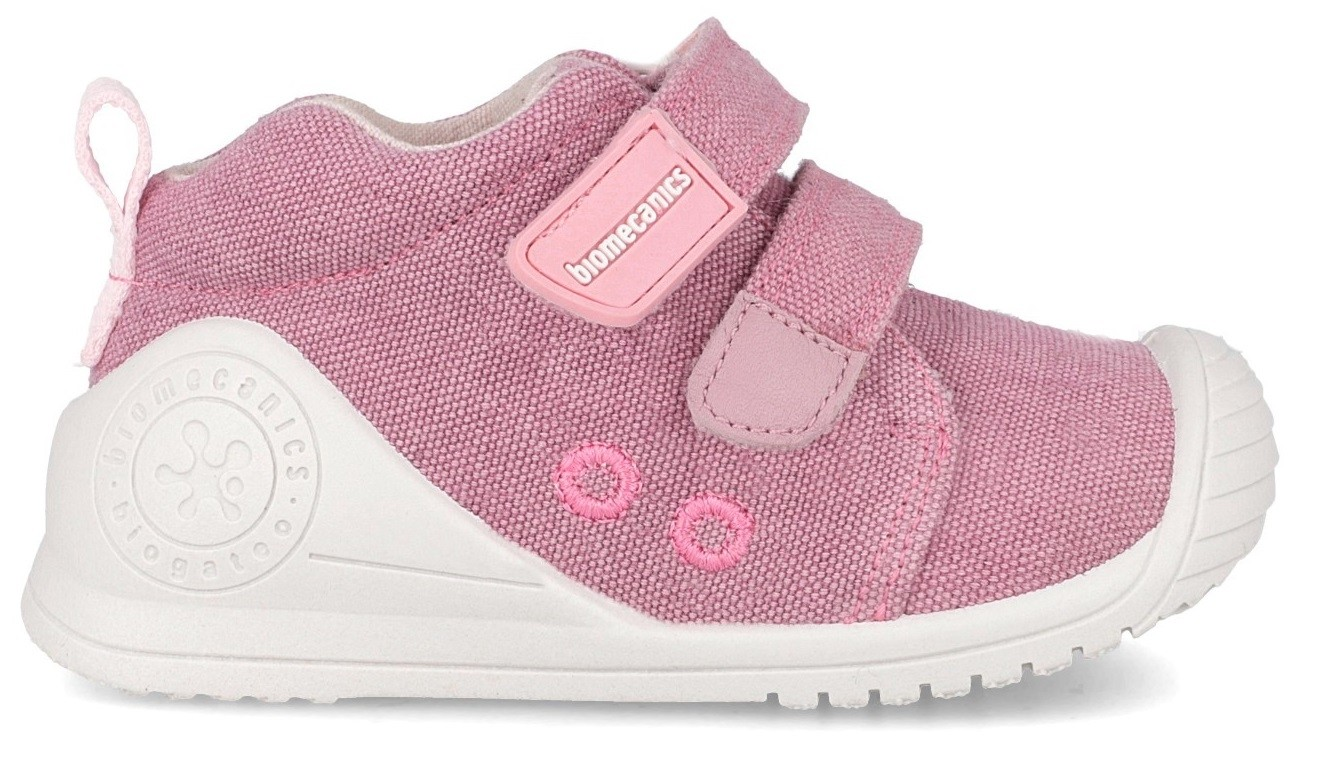 gran venta dc84c 1f09d Biomecanics 192201 Pink Canvas Shoes - Little Wanderers