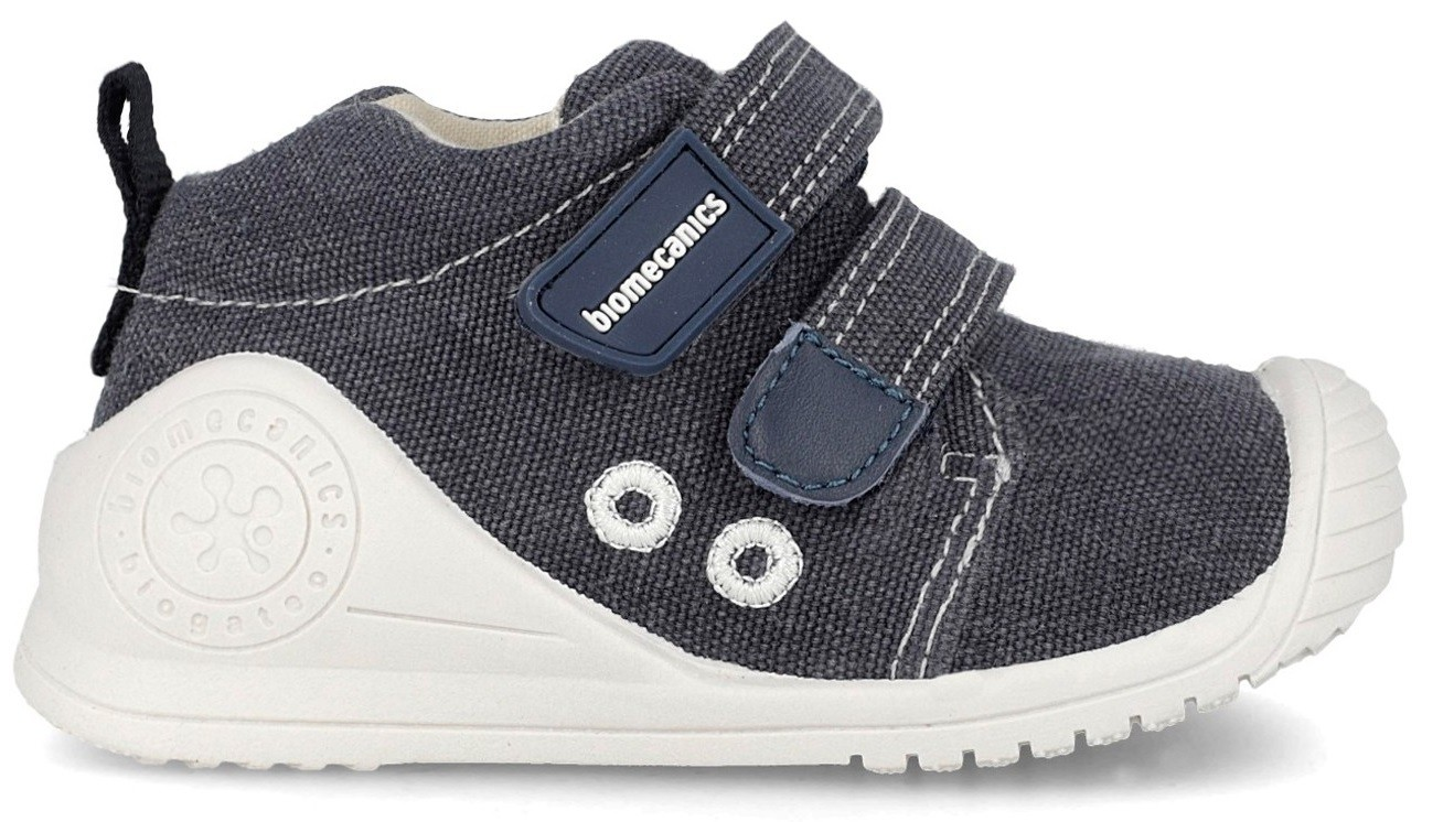 bajo precio b3268 6b772 Biomecanics 192201 Navy Canvas Shoes - Little Wanderers