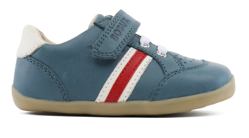 Bobux Step Up Trackside Airforce Blue Shoes - Little Wanderers