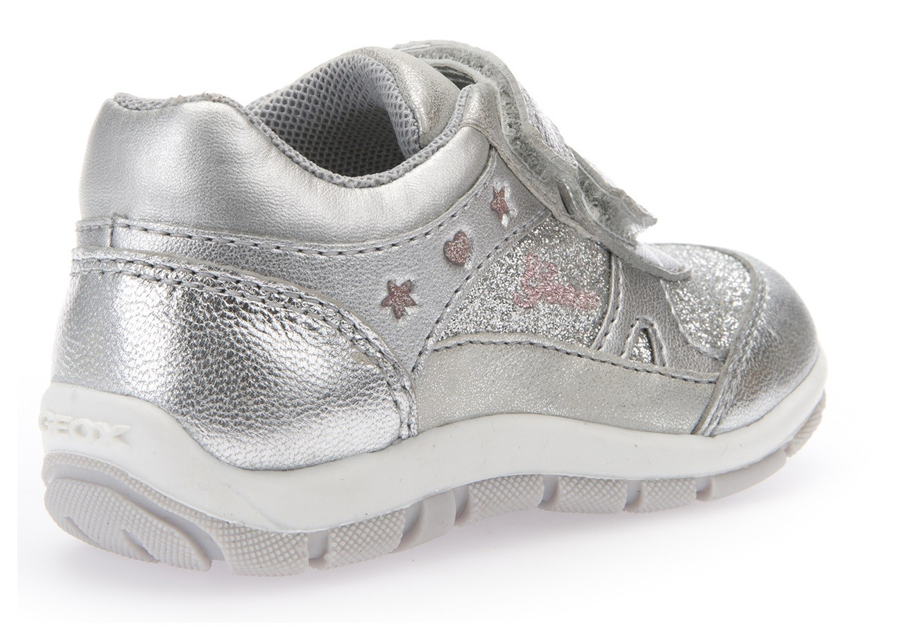 Geox Shaax Silver Trainers Geox Kids Shoes Little
