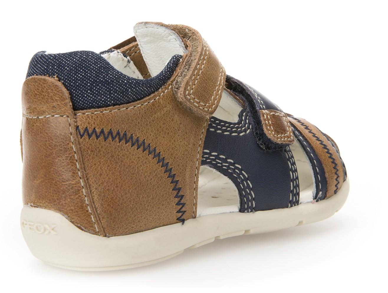 Geox Kaytan Caramel Navy Sandals Geox Kids Shoes