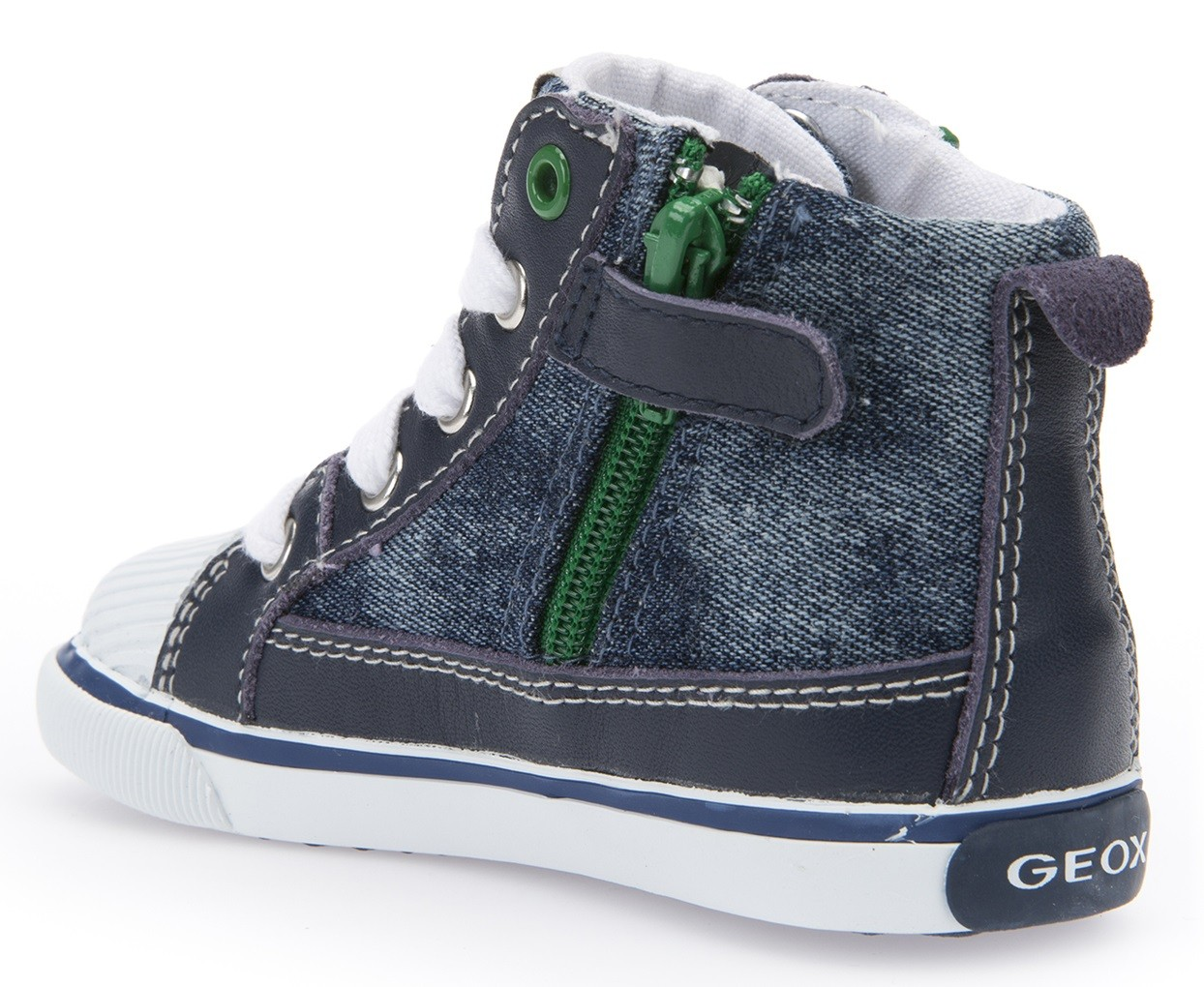 geox kiwi navy green canvas boots   little wanderers