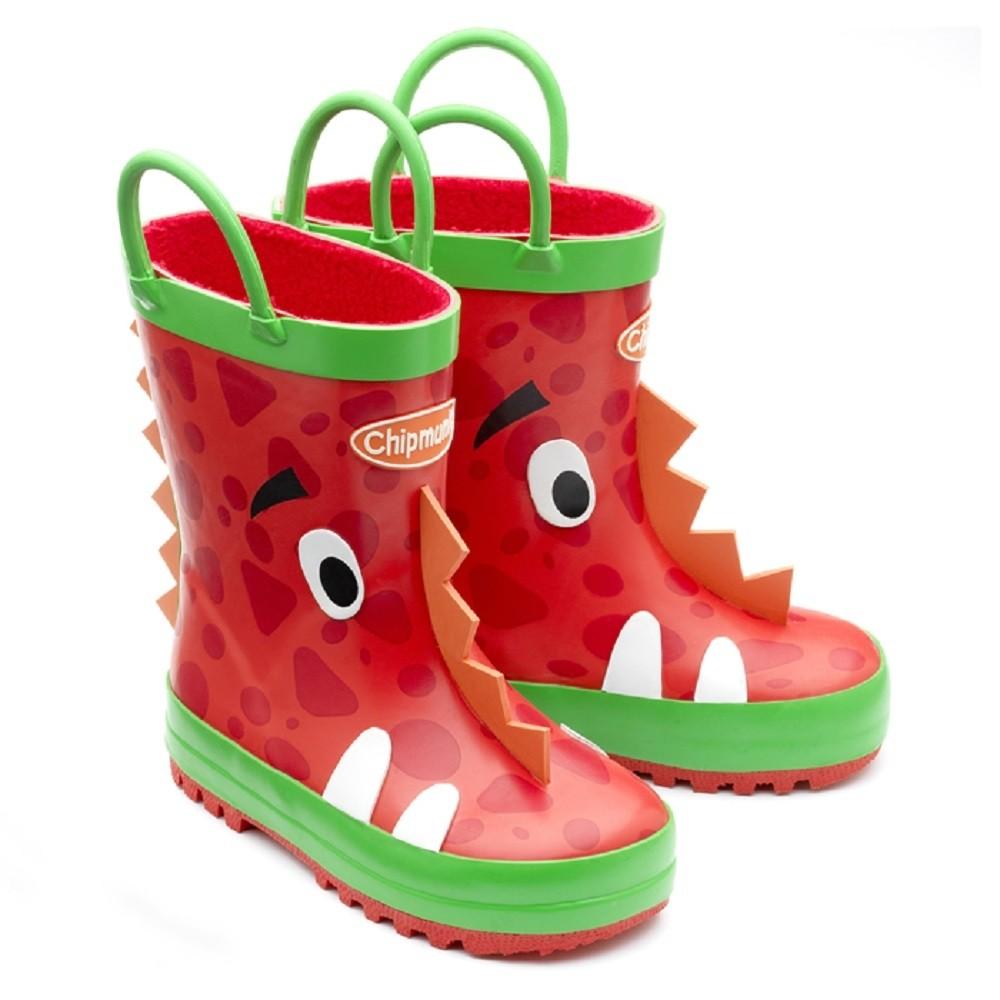 Chipmunks Ziggy Red Wellingtons - Little Wanderers