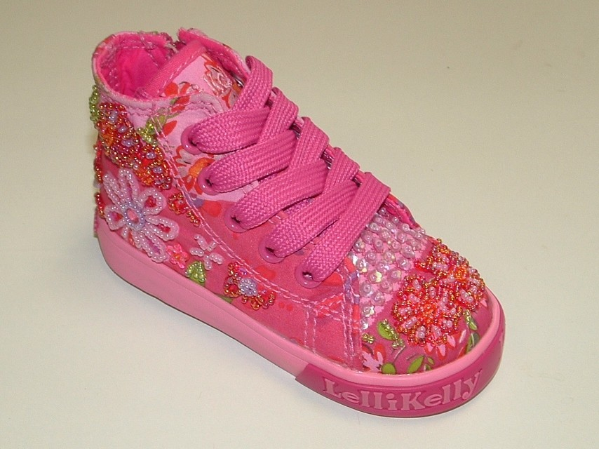 16f91ecd3fd9 Lelli Kelly Duffy Pink Canvas Baseball Boots - Little Wanderers