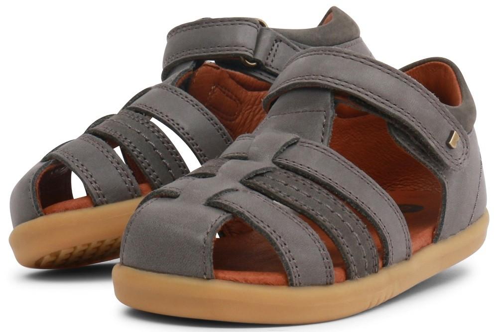 b2c587afa Bobux I-walk Roam Charcoal Grey Sandals - Little Wanderers