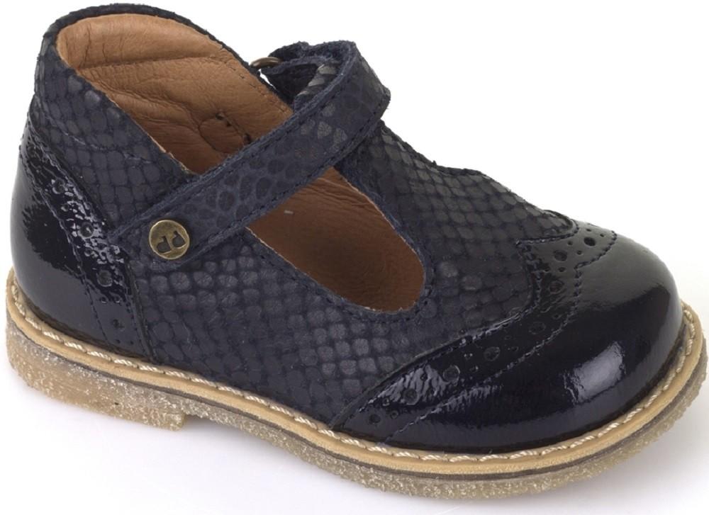 Froddo G2140030 2 Navy Patent T Bar Shoes Little Wanderers
