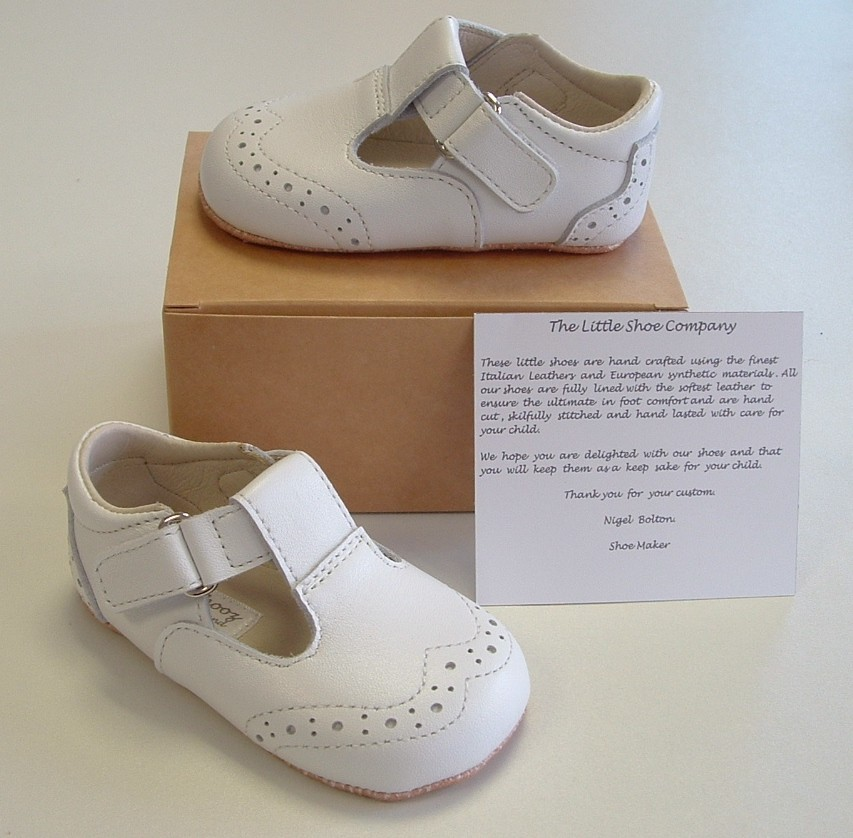 b773015def65 Ickle Shooz Traditional White T-bar Pram Shoes - Little Wanderers