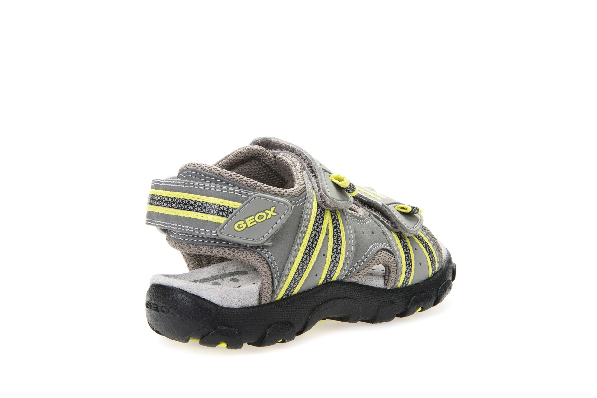 Geox Strada Grey Lime Sandals Geox Kids Shoes Little