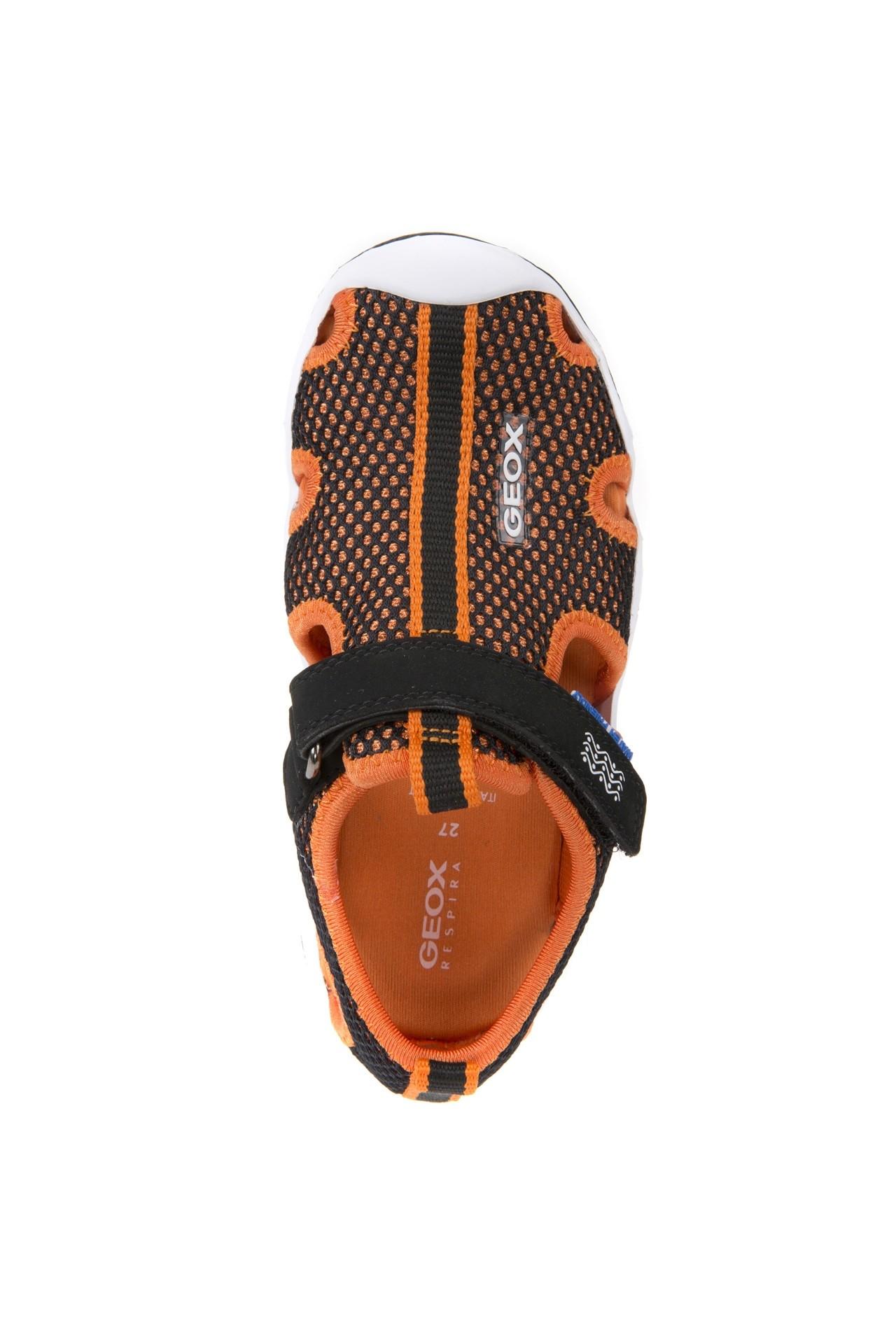 Geox Wader Black Orange Sandals Little Wanderers