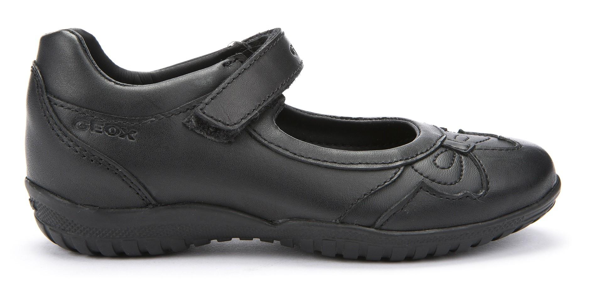 tolle Passform Rabatt zum Verkauf offizieller Shop Geox Shadow Black Girls School Shoes - Little Wanderers