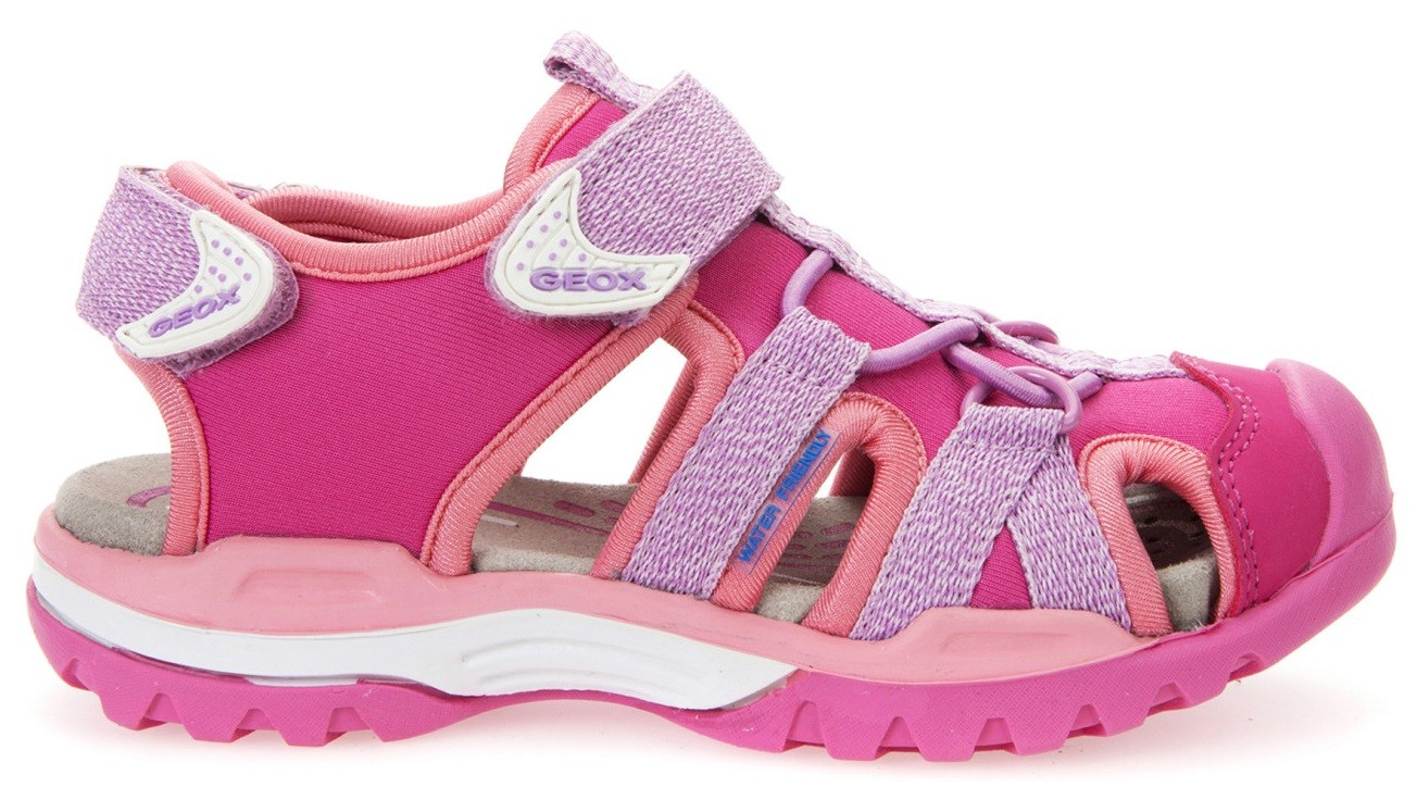 Geox Borealis Lilac Pink Sandals Little Wanderers