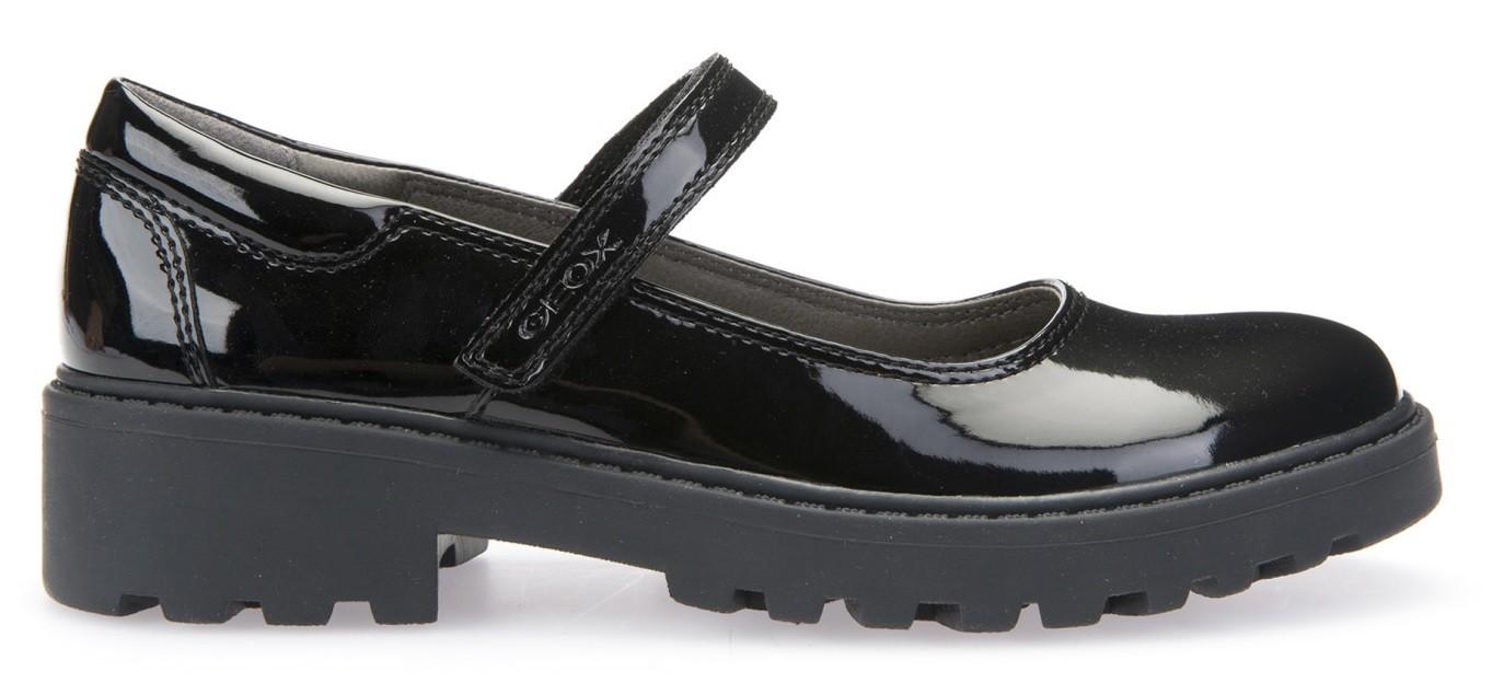 Incorrecto retrasar puerta  Geox Casey MJ Black Patent School Shoes - Little Wanderers