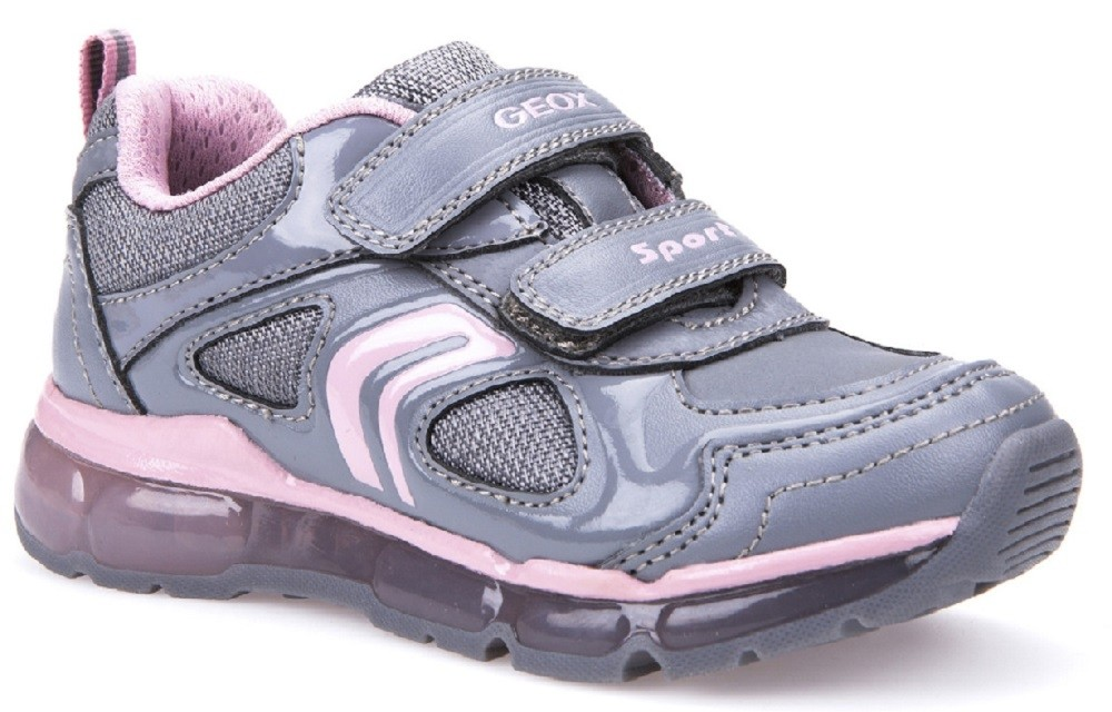 Black//fushia With Lights In Size UK 9 Infant Geox J Android J7445A