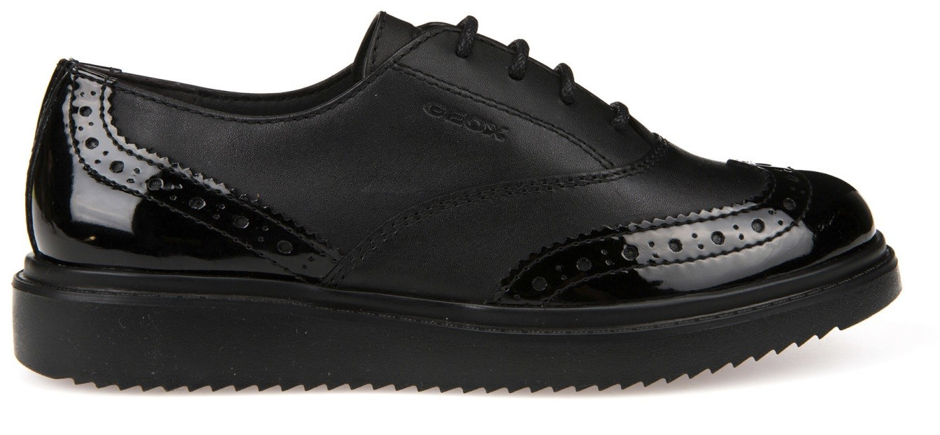 50fec889a957 Geox Thymar Black Patent School Shoes - Little Wanderers