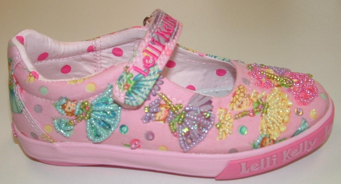 Lelli Kelly Flower Fairy Pink Canvas Shoes Little Wanderers