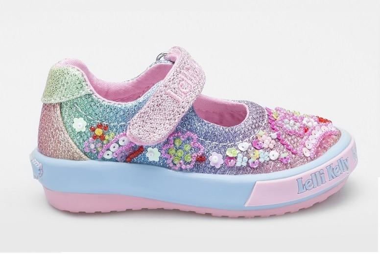 2f10e307de61 Lelli Kelly Tillie Baby Rainbow Glitter Canvas Shoes - Little Wanderers