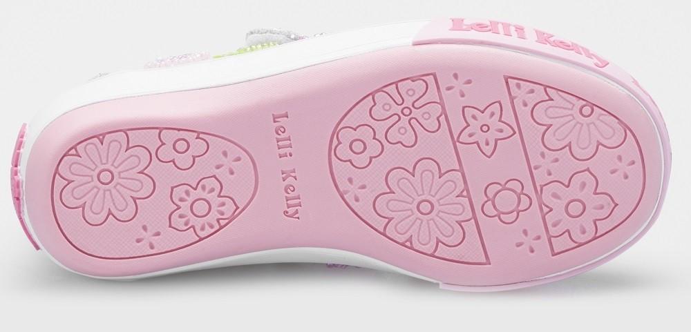 7cdcfd724fd31 Lelli Kelly Butterfly Silver Glitter Canvas Shoes - Little Wanderers