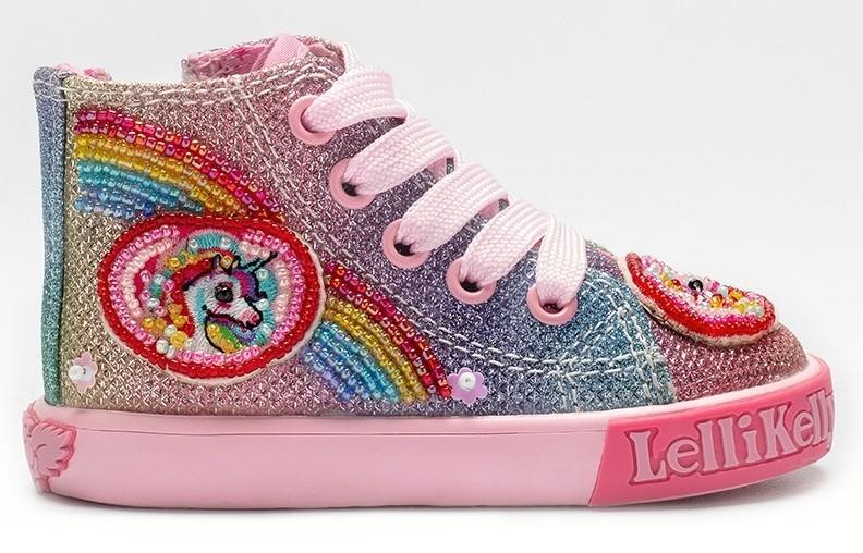 rainbow sparkle boots