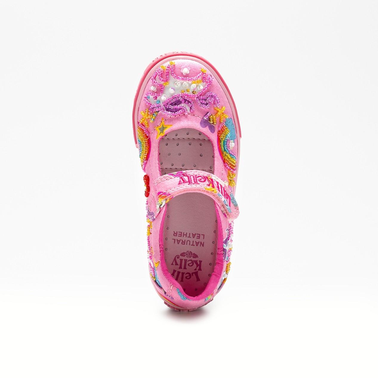 aa5d23ae Lelli Kelly Unicorn Pink Canvas Shoes - Little Wanderers